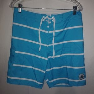 Body Glove Turquoise Board Shorts Mens 30